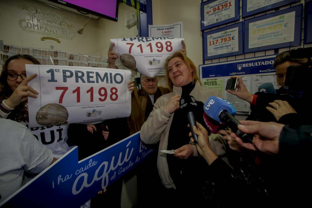 Estas han sido las primeras reacciones de los premiados en el Sorteo de la Lotería